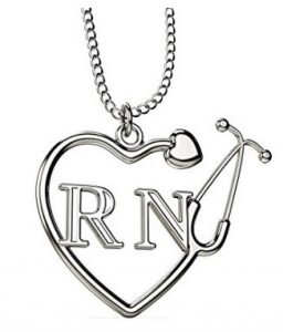 Best sterling silver nurse jewelry nurse watches and gifts rn registered nurse stethoscope heart necklace aloadofball Gallery