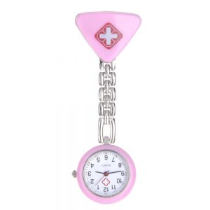 e367cb18d This round fob watch has a band and case that are made of high-quality  alloy metal. It is easy to wear and has a fun and bright look.